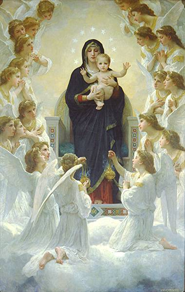 William-Adolphe_Bouguereau_The_Virgin_With_Angels-450x711