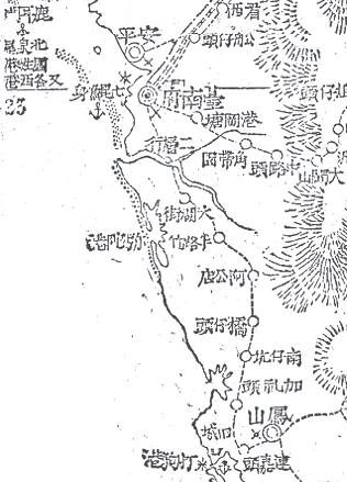 6_1895年日軍所繪臺灣南部圖