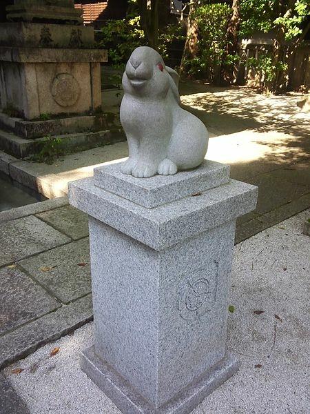 450px-岡崎神社_-_狛うさぎ1