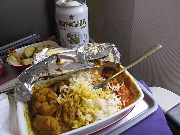 難得好吃飛機餐