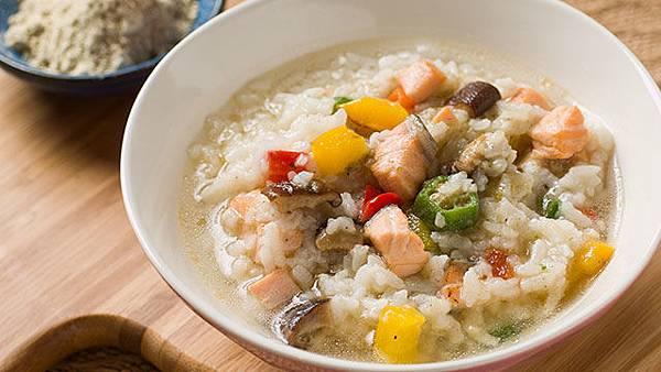 飲氧什錦鮭魚粥