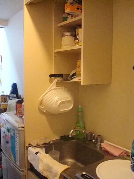 好小巧可愛。這是簡易廚房。