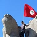 巴西抗議活動舉旗人