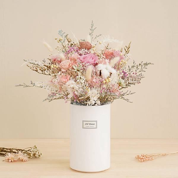 網美風甜點店面首選 甜甜蜜蜜款 永生花盆栽 乾燥花盆栽 桌花設計 大型桌花