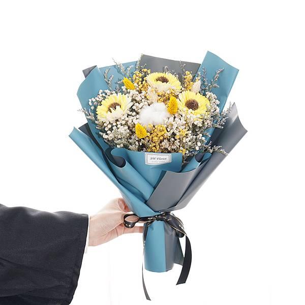 |前途似錦 經典黃向日葵 乾燥花束 畢業花束 中型花束|