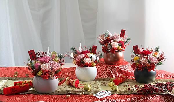 過年盆栽花卉伴手禮推薦新竹花店小薇花藝