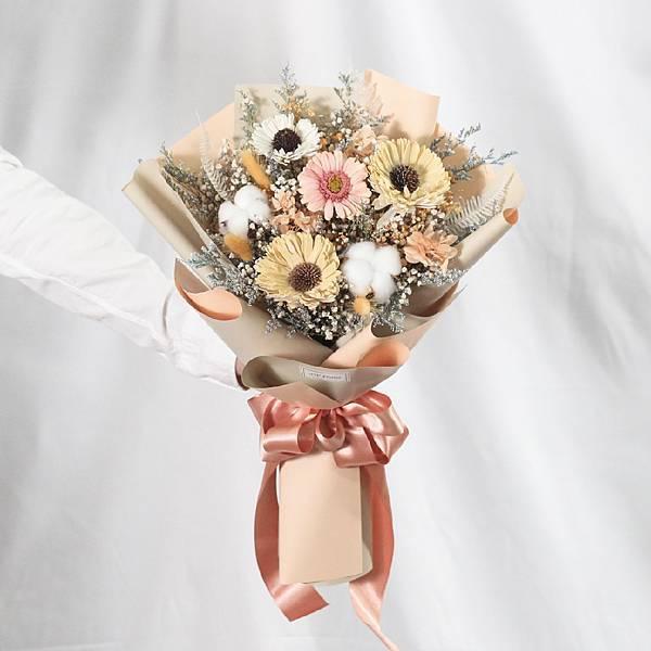 |女神的期盼-向日葵花束-畢業乾燥花-教師節禮物-大型|