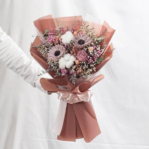 |女神的祝福-向日葵花束-畢業乾燥花-教師節禮物-大型|