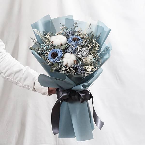 |浪花的呢喃-向日葵花束-畢業乾燥花-教師節禮物-大型|