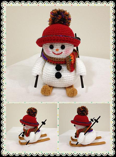 團鉤-滑雪庫雪人