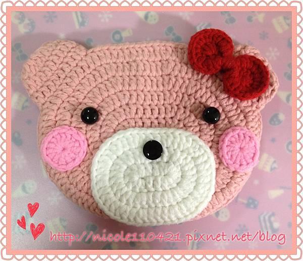 粉紅熊熊小物包-1