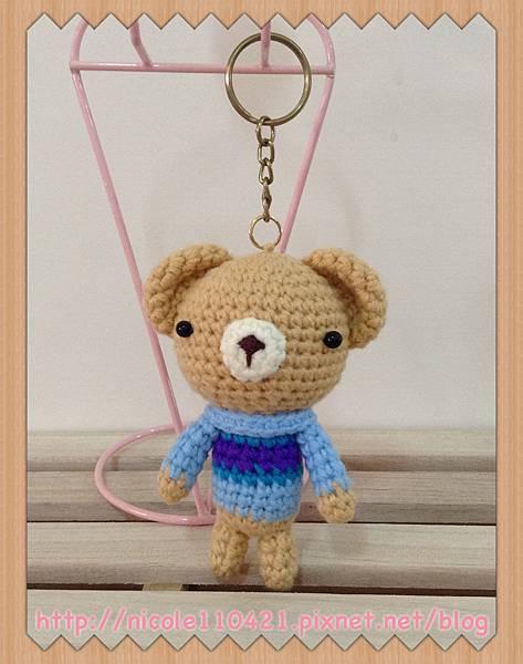 毛衣小熊鑰匙圈-1