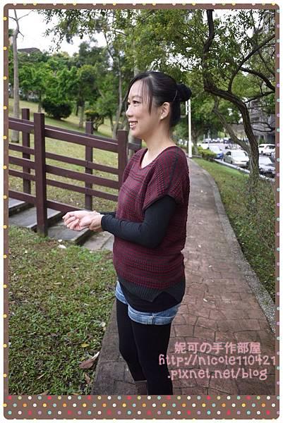 (十五)條紋連肩短袖(棒針)-3
