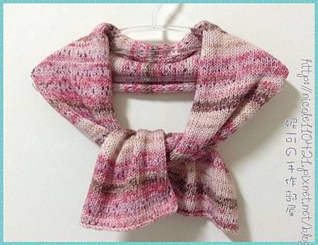 平織段染棉線圍巾-1