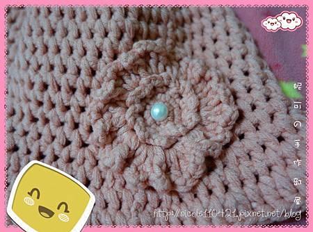 花朵棉線鉤針漁夫帽-2