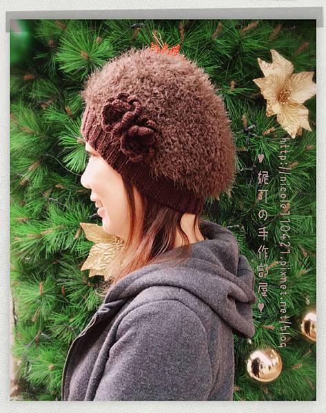 毛毛貝蕾帽-1