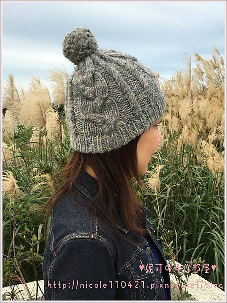 冬日麻花帽帽-2