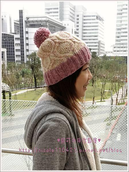 草莓糖霜球球帽-1
