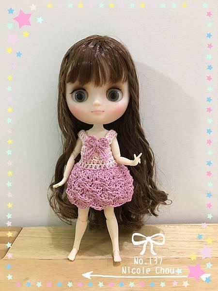 鉤針娃衣團鉤-洋裝-2