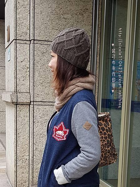 菱格小麻花毛帽-8