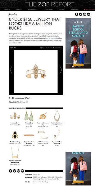 Under $150 Jewelry That Looks Like A Million Bucks   The Zoe Report
