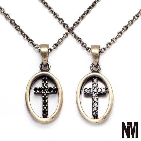 旋轉十字架鑲鑽項鍊