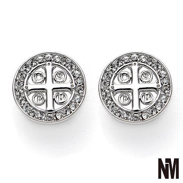 本篤聖牌鑲水鑽耳環