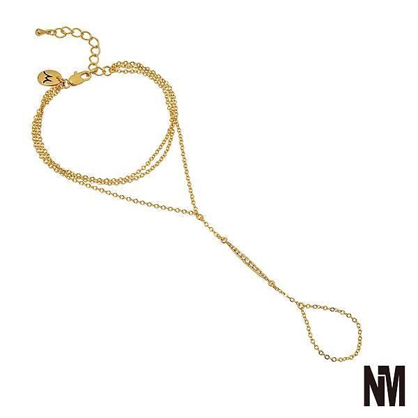 層次感金色手鍊X戒指