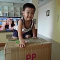 收到盈如阿姨寄來的包裹很開心