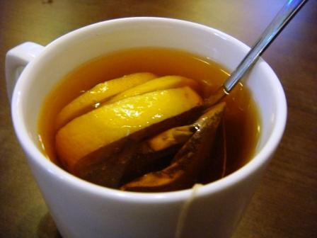 熱檸檬茶@必達士