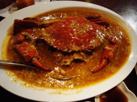 主菜-辣味螃蟹(約1斤重的)@無招牌海鮮