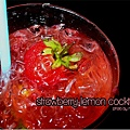 Strawberry lemon cocktail