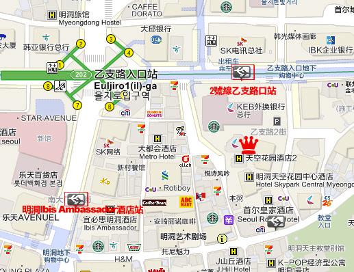 Hotel Skypark Central I map