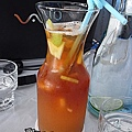 聖多里尼海岸咖啡~冰水果茶
