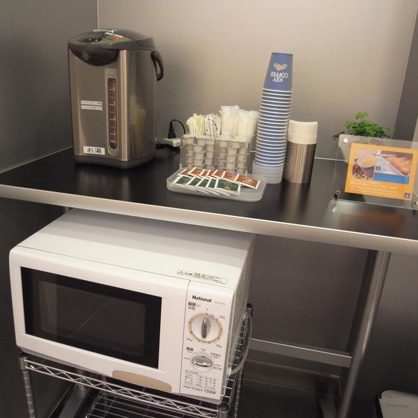 一樓無料茶水,還有微波爐