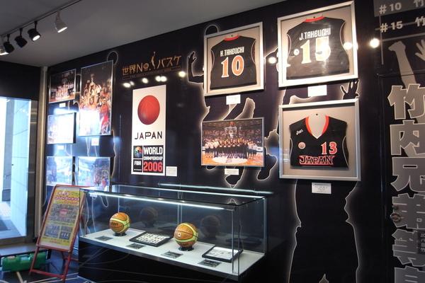 Saitama Super Arena展示日本籃球員