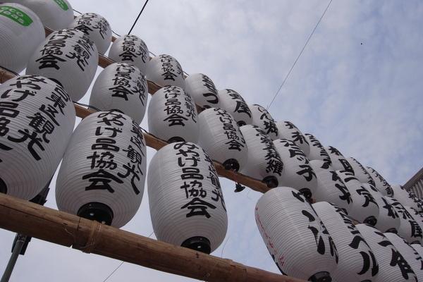 寺前一整排燈籠