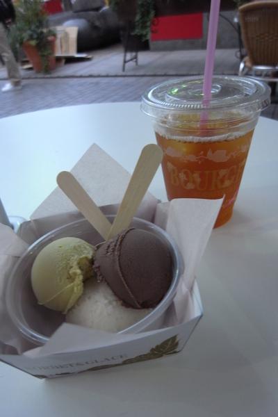 Moa 4 Cafe 冰紅茶+冰淇淋