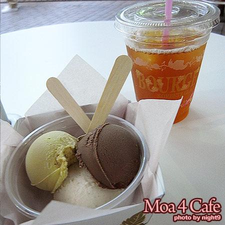 新宿‧Moa 4 cafe‧冰紅茶+冰淇淋