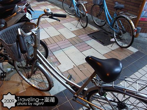 晚上騎飯店腳踏車採買去