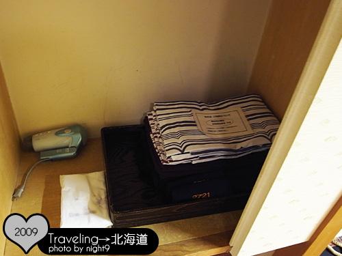 衣櫥裡有吹風機跟浴衣