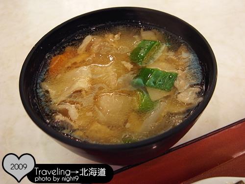 洞爺湖溫泉飯店‧晚餐豬肉味增湯