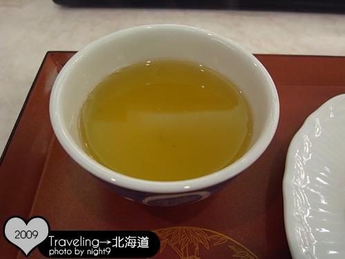 洞爺湖溫泉飯店‧晚餐清茶