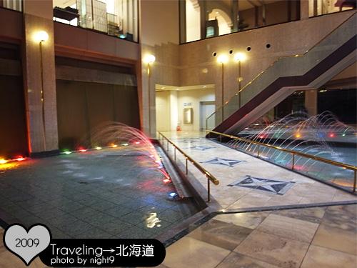 洞爺湖溫泉飯店‧景觀噴水池