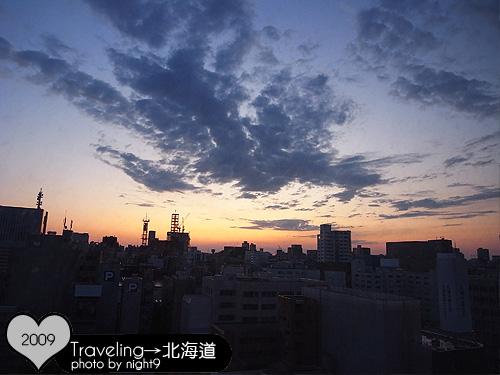 札幌ROYTON飯店‧早晨窗景