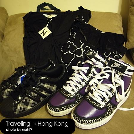 戰利品‧another衣服‧愛迪達格紋球鞋‧Nike銀豹紫球鞋
