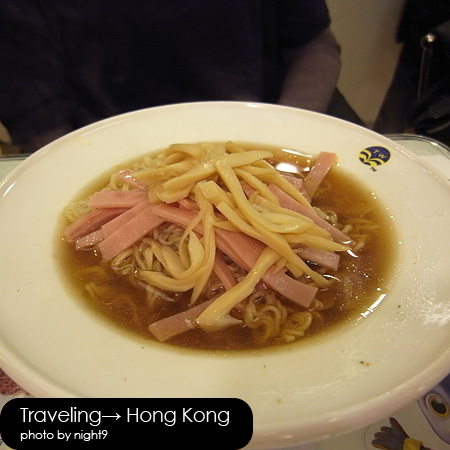 翠華餐廳‧火腿公仔麵