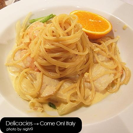 Come on! Italy‧柳橙醬蝦仁鮮魚義大利麵