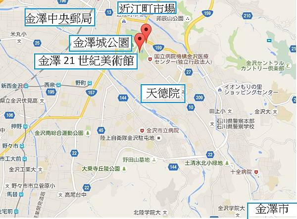 金澤市地圖