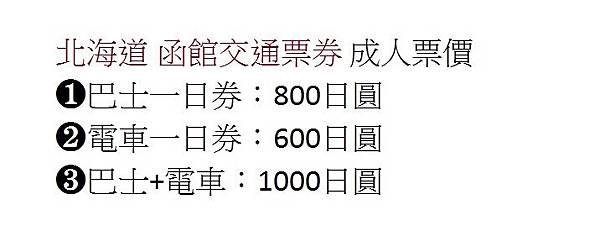 函館交通票券-1
